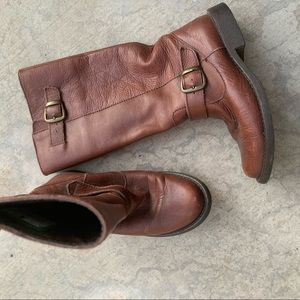 Steve Madden Shoes - STEVE MADDEN Frencchh cognac brown leather boot 6